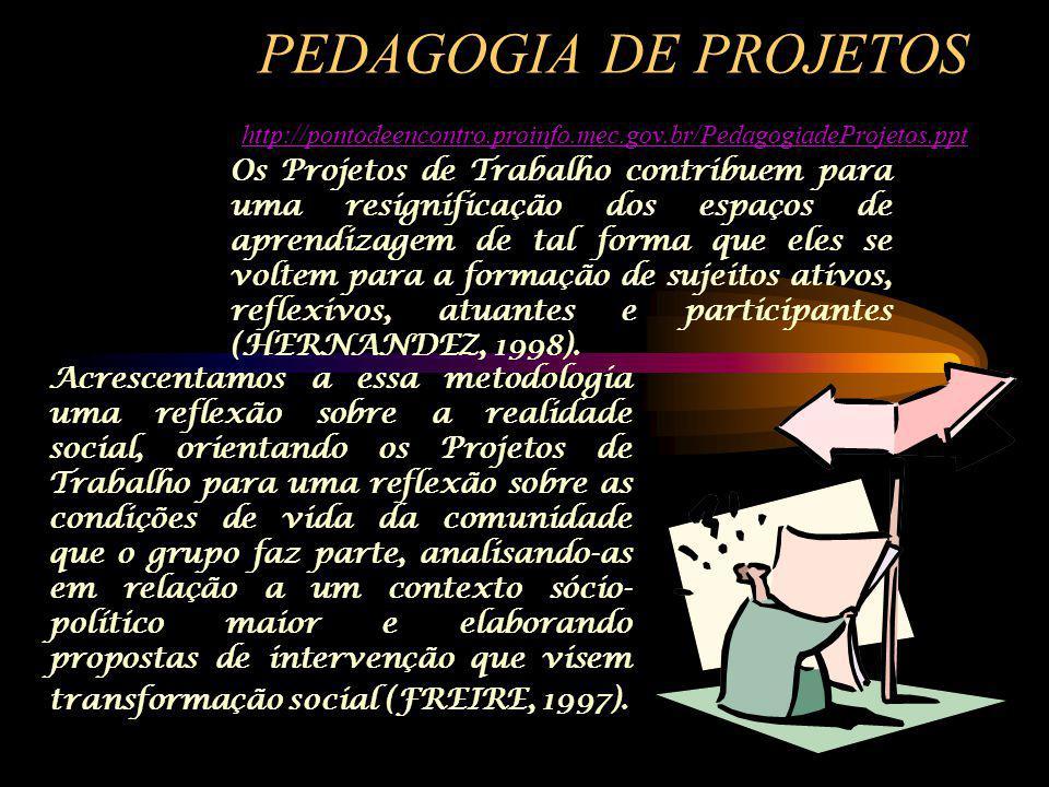 PEDAGOGIA DE PROJETOS http://pontodeencontro. proinfo. mec. gov