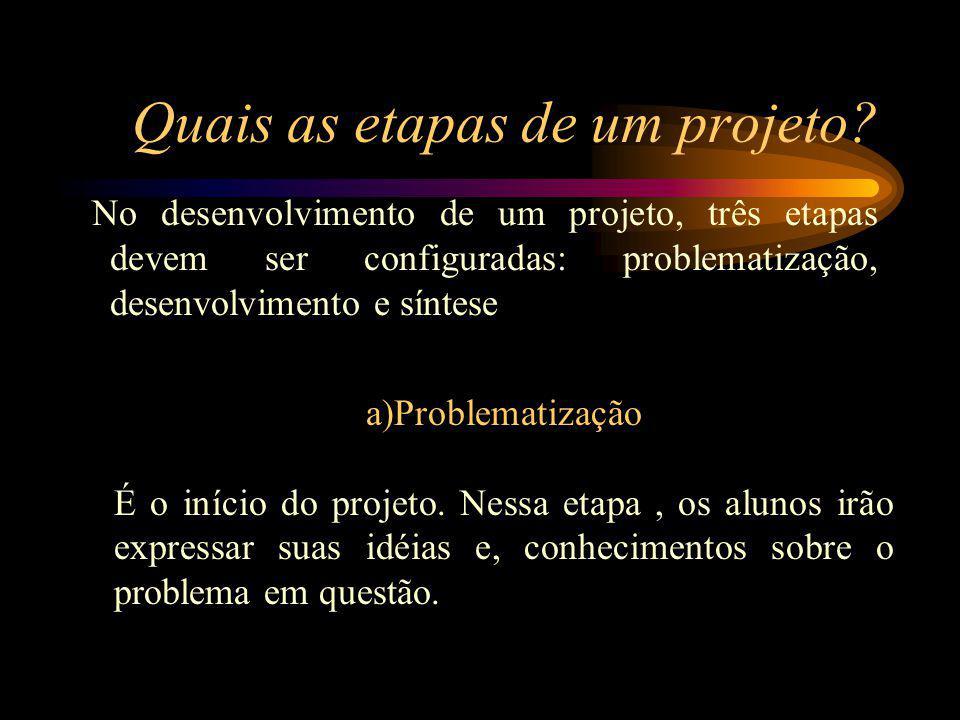 Quais as etapas de um projeto