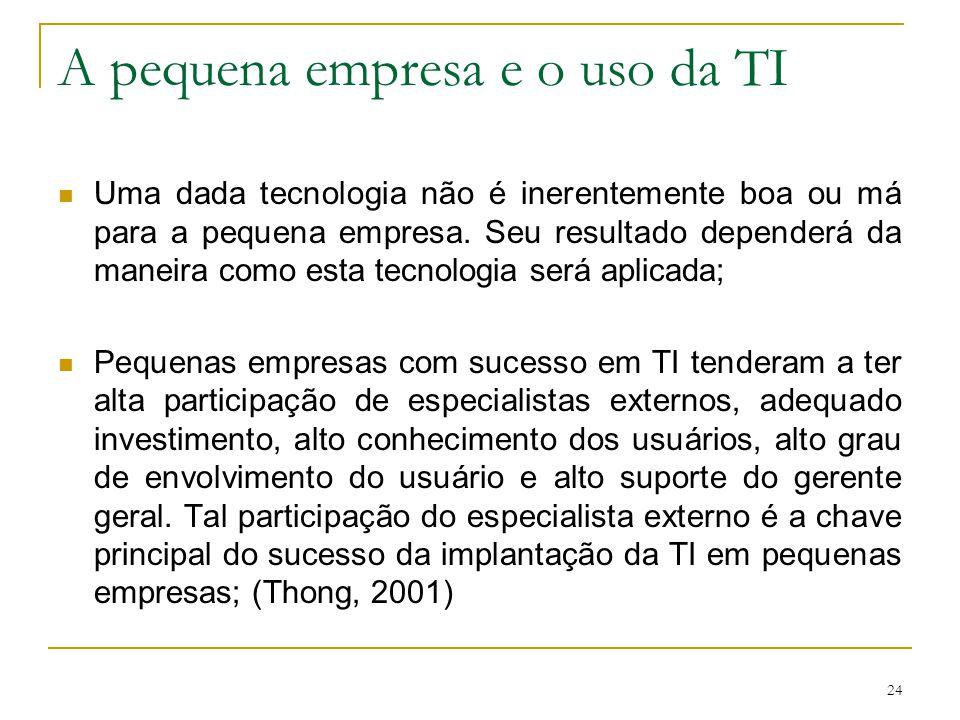 A pequena empresa e o uso da TI