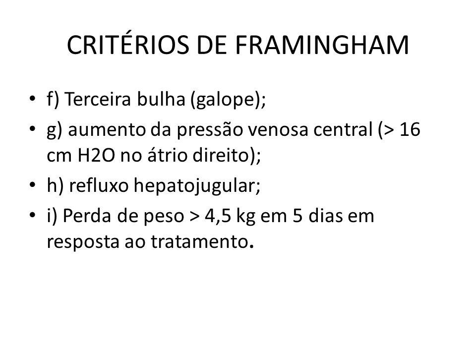 CRITÉRIOS DE FRAMINGHAM