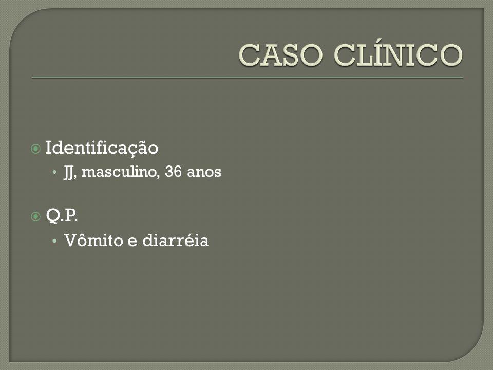 CASO CLÍNICO Identificação Q.P. Vômito e diarréia