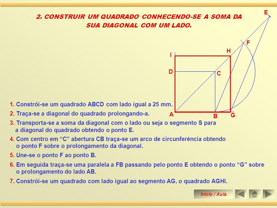 2. CONSTRUIR UM QUADRADO CONHECENDO-SE A SOMA DA