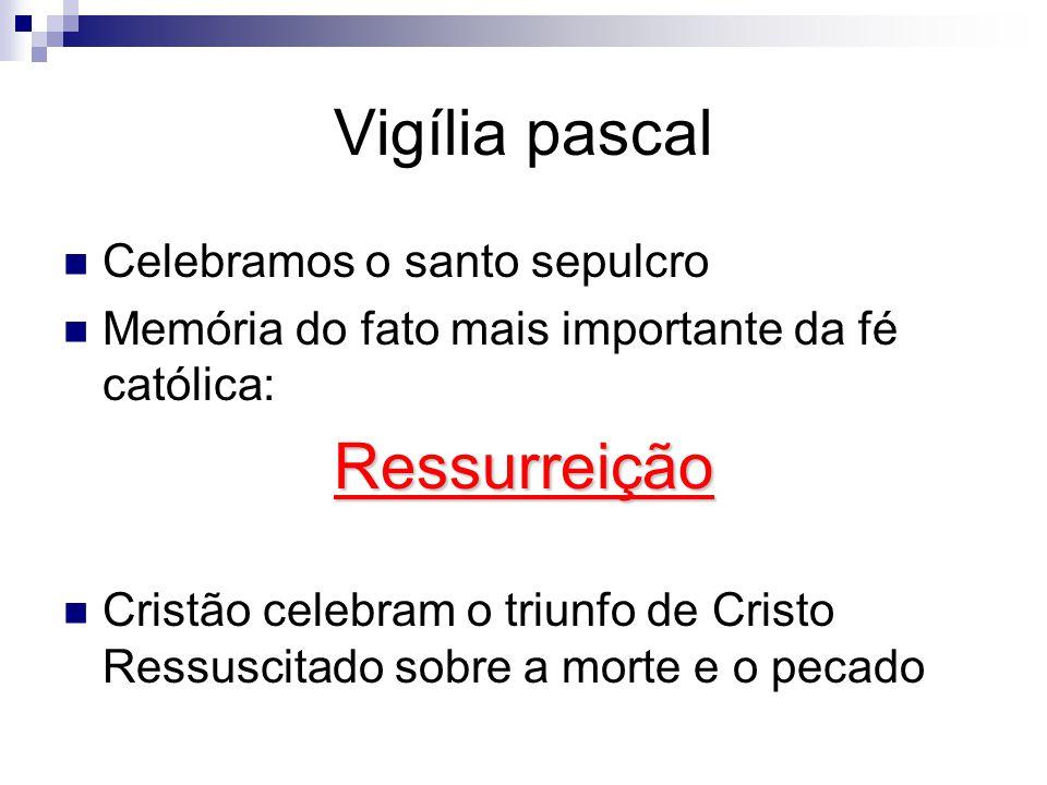 Vigília pascal Ressurreição Celebramos o santo sepulcro