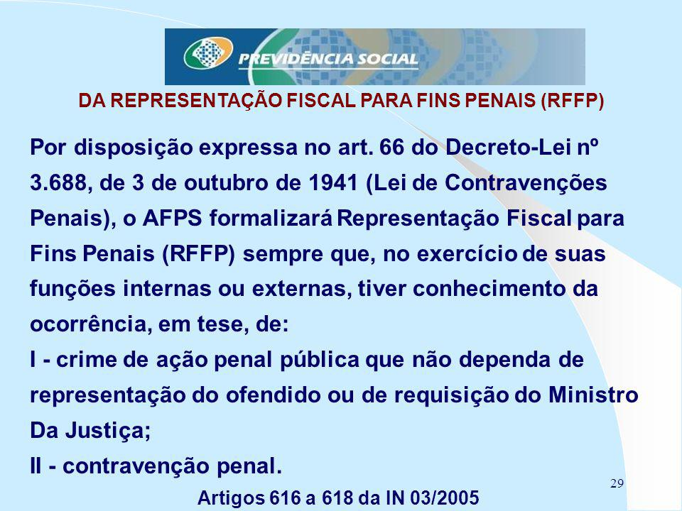DA REPRESENTAÇÃO FISCAL PARA FINS PENAIS (RFFP)