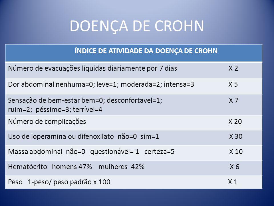 DOENÇA DE CROHN ÍNDICE DE ATIVIDADE DA DOENÇA DE CROHN