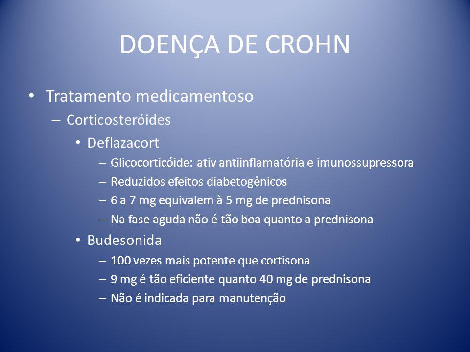 DOENÇA DE CROHN Tratamento medicamentoso Corticosteróides Deflazacort