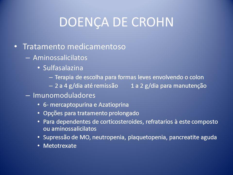 DOENÇA DE CROHN Tratamento medicamentoso Aminossalicilatos