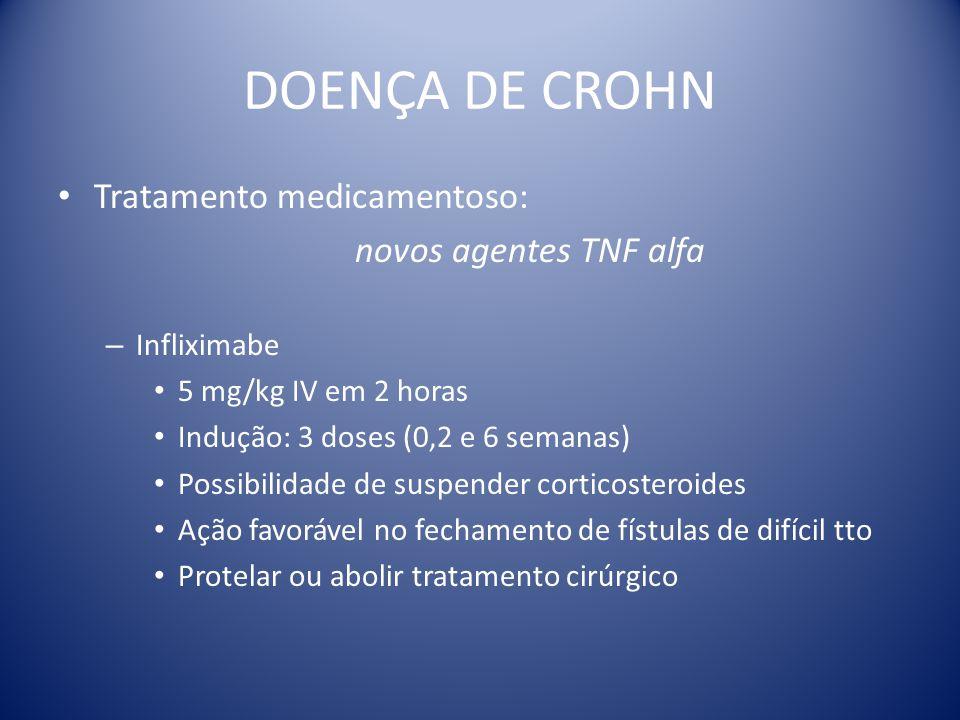 DOENÇA DE CROHN Tratamento medicamentoso: novos agentes TNF alfa