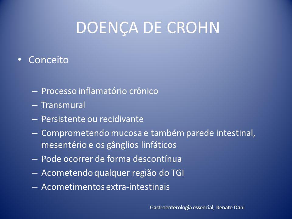 DOENÇA DE CROHN Conceito Processo inflamatório crônico Transmural