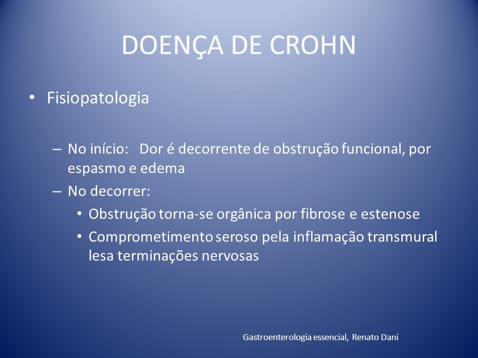 DOENÇA DE CROHN Fisiopatologia