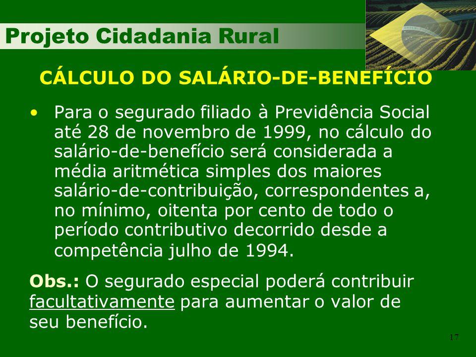 CÁLCULO DO SALÁRIO-DE-BENEFÍCIO
