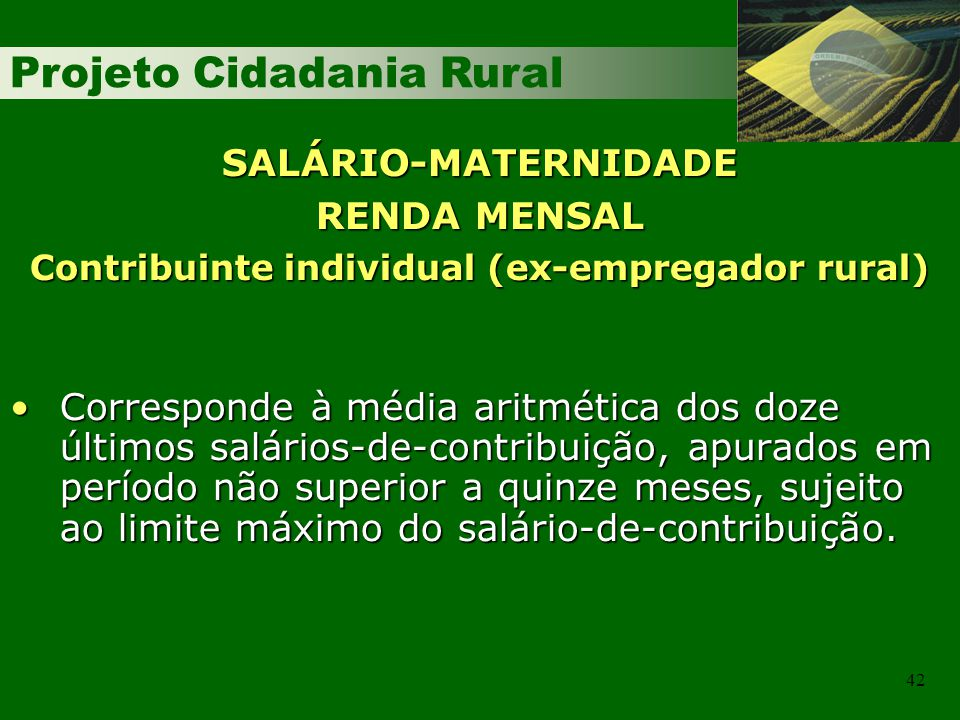 Contribuinte individual (ex-empregador rural)