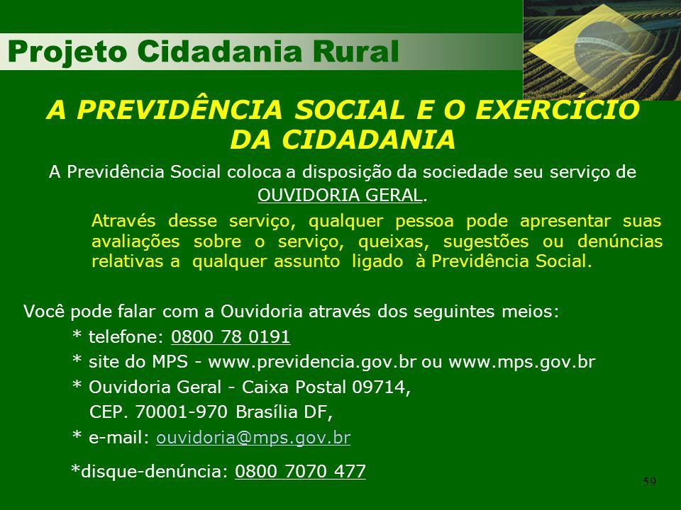 A PREVIDÊNCIA SOCIAL E O EXERCÍCIO DA CIDADANIA