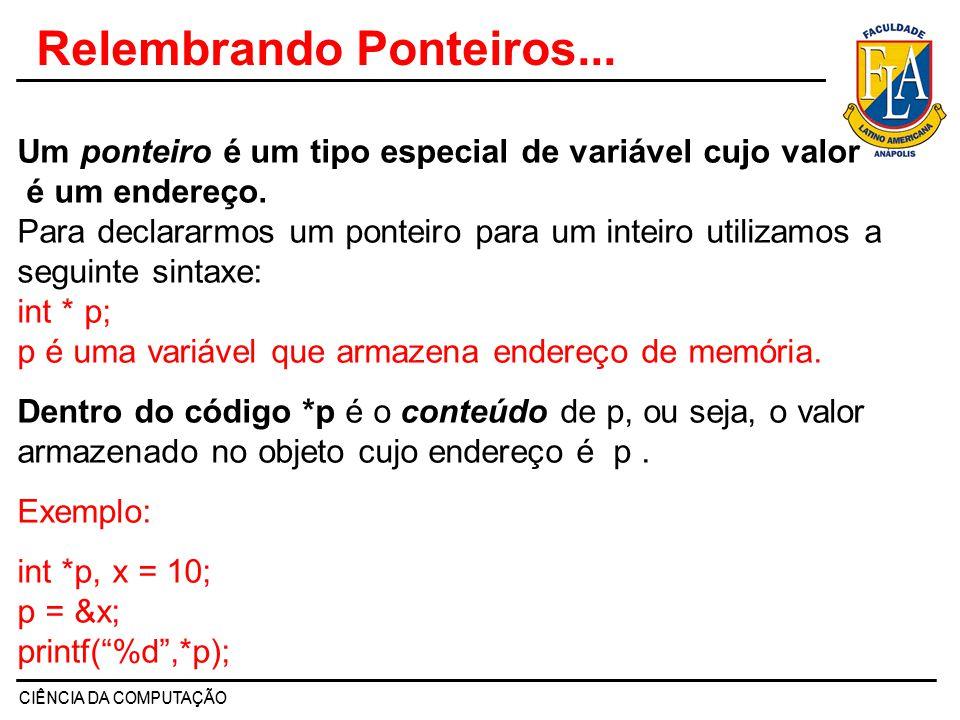 Relembrando Ponteiros...