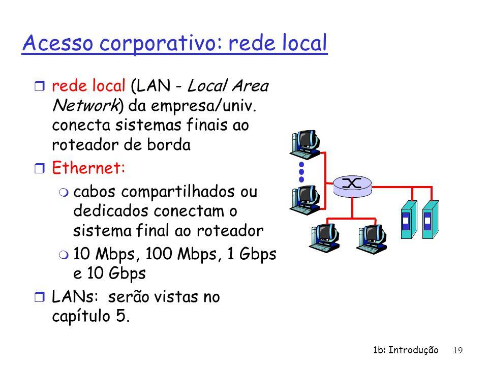 Acesso corporativo: rede local