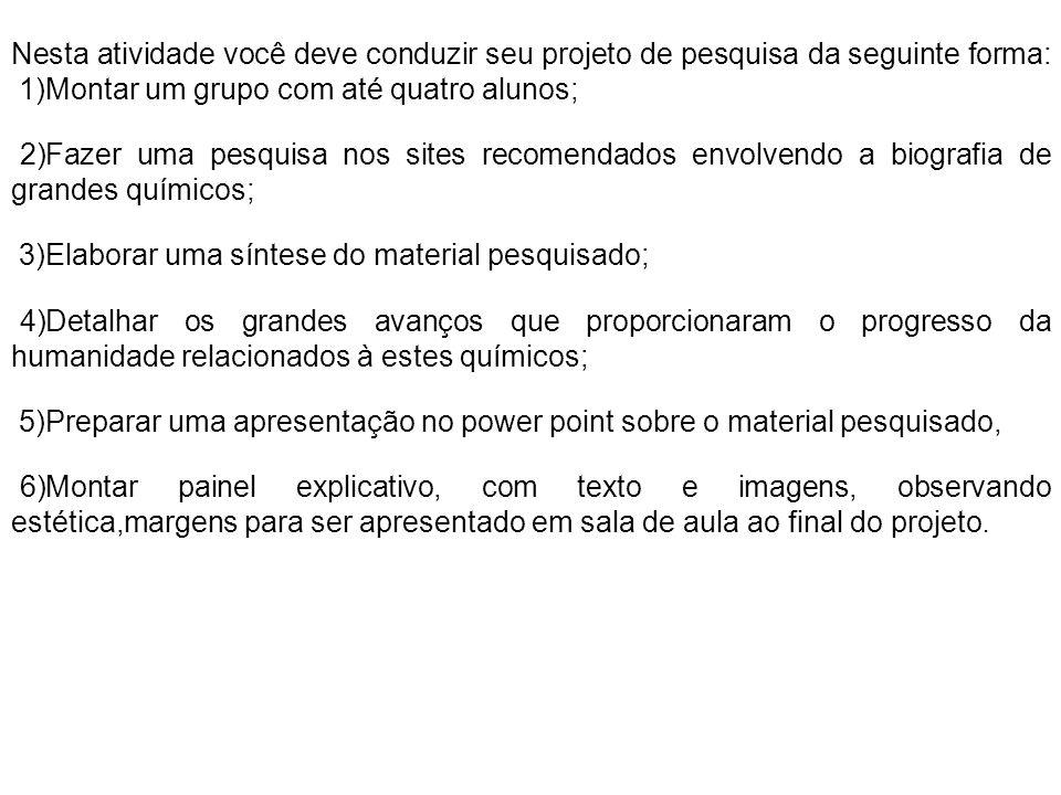 3)Elaborar uma síntese do material pesquisado;