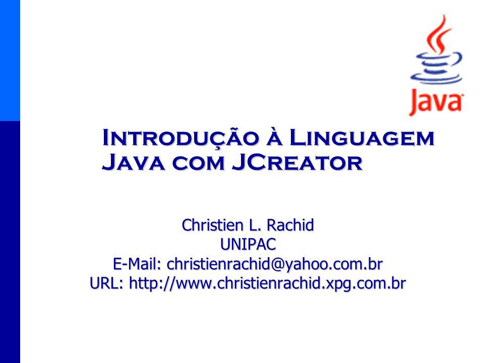 Introdução à Linguagem Java com JCreator