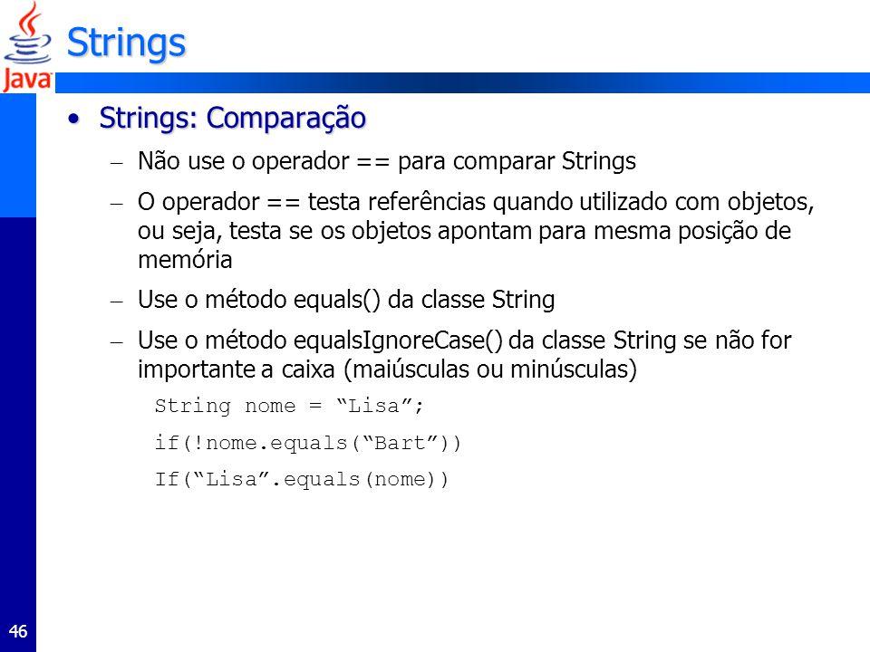 Strings Strings: Comparação
