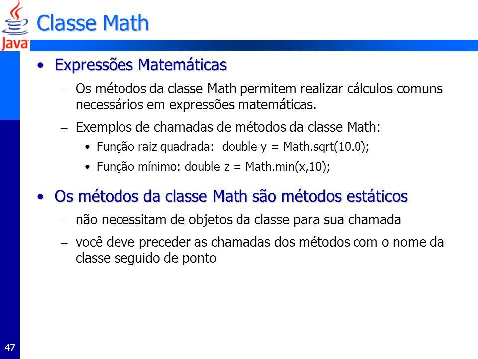 Classe Math Expressões Matemáticas