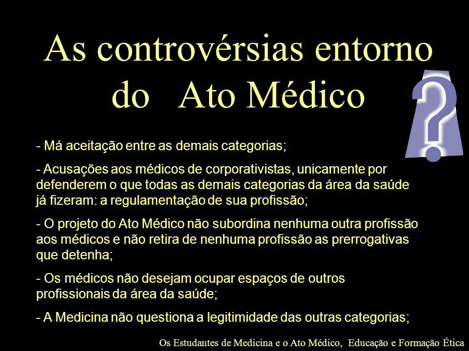 As controvérsias entorno do Ato Médico