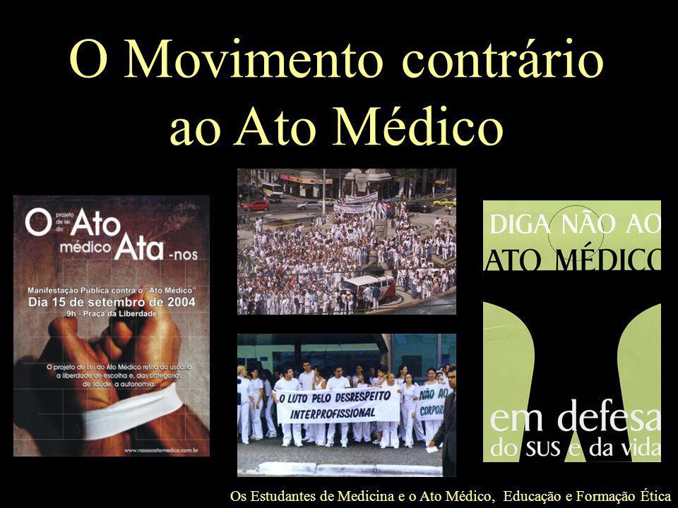 O Movimento contrário ao Ato Médico
