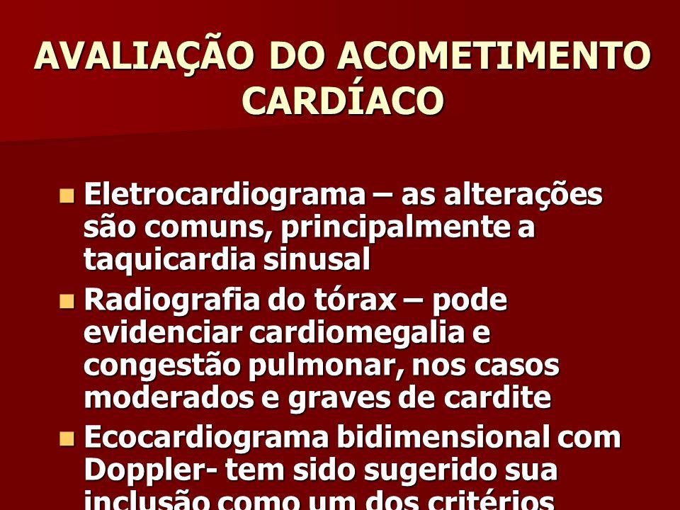 AVALIAÇÃO DO ACOMETIMENTO CARDÍACO