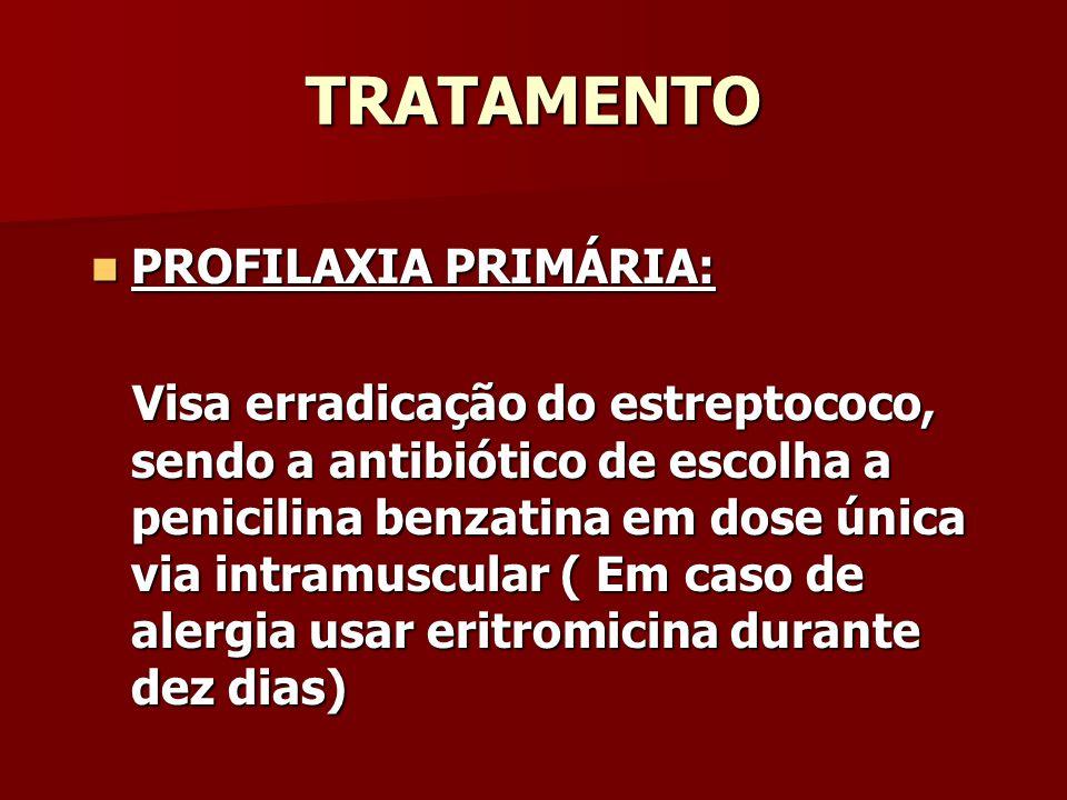 TRATAMENTO PROFILAXIA PRIMÁRIA: