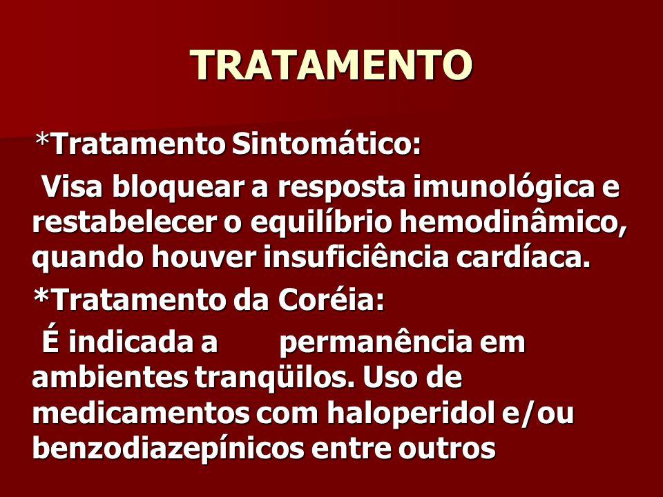 TRATAMENTO *Tratamento Sintomático: