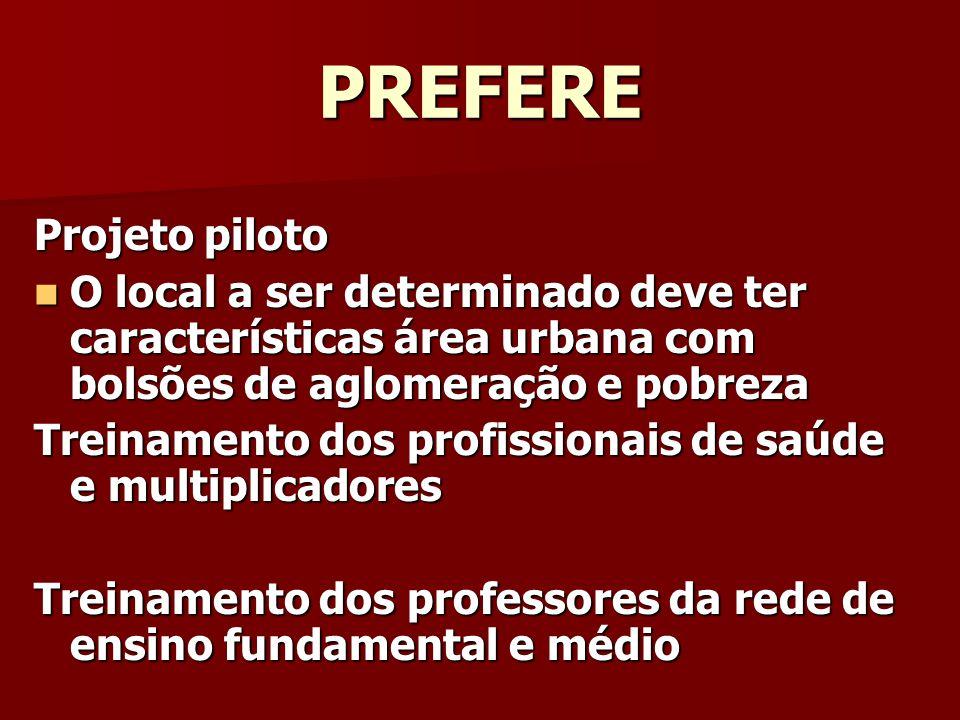 PREFERE Projeto piloto
