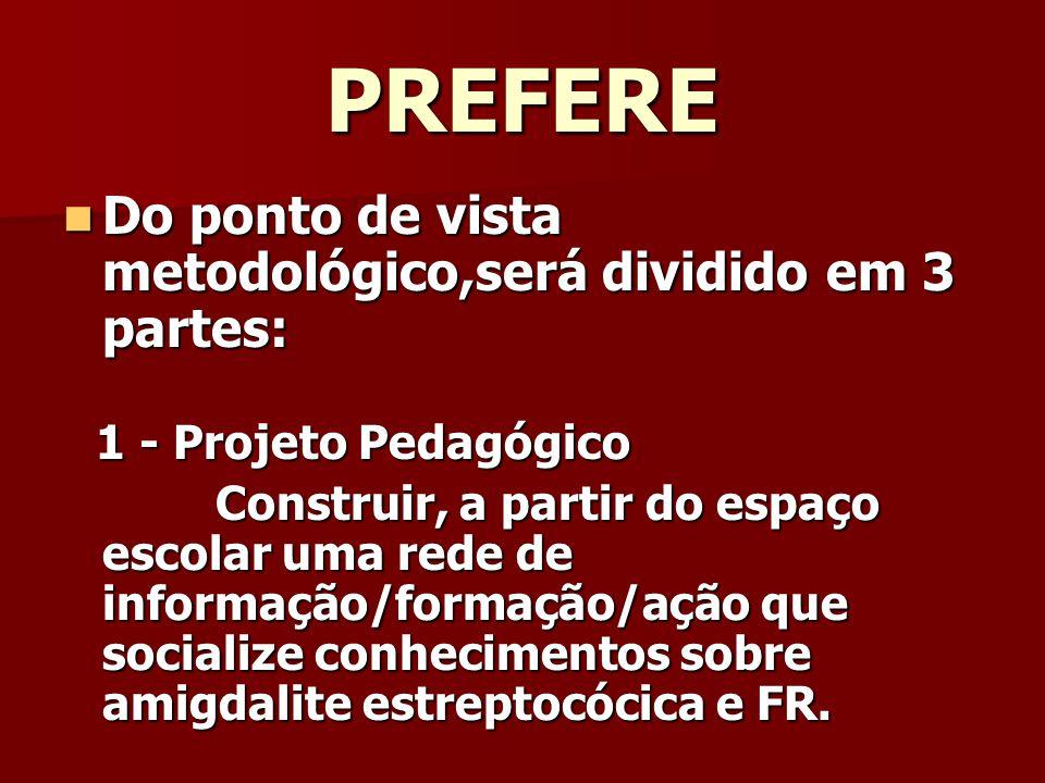 PREFERE Do ponto de vista metodológico,será dividido em 3 partes: