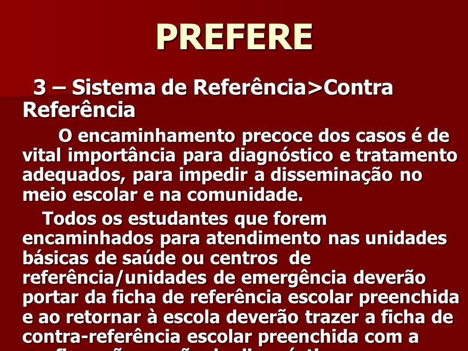 PREFERE 3 – Sistema de Referência>Contra Referência