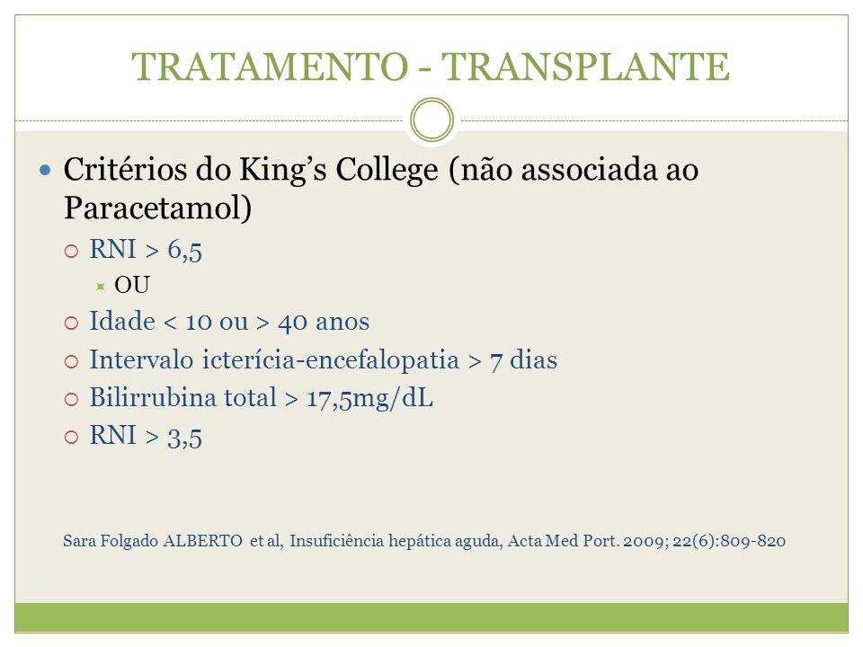 TRATAMENTO - TRANSPLANTE
