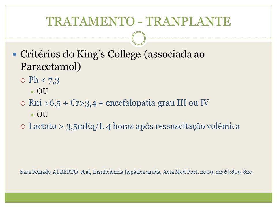TRATAMENTO - TRANPLANTE