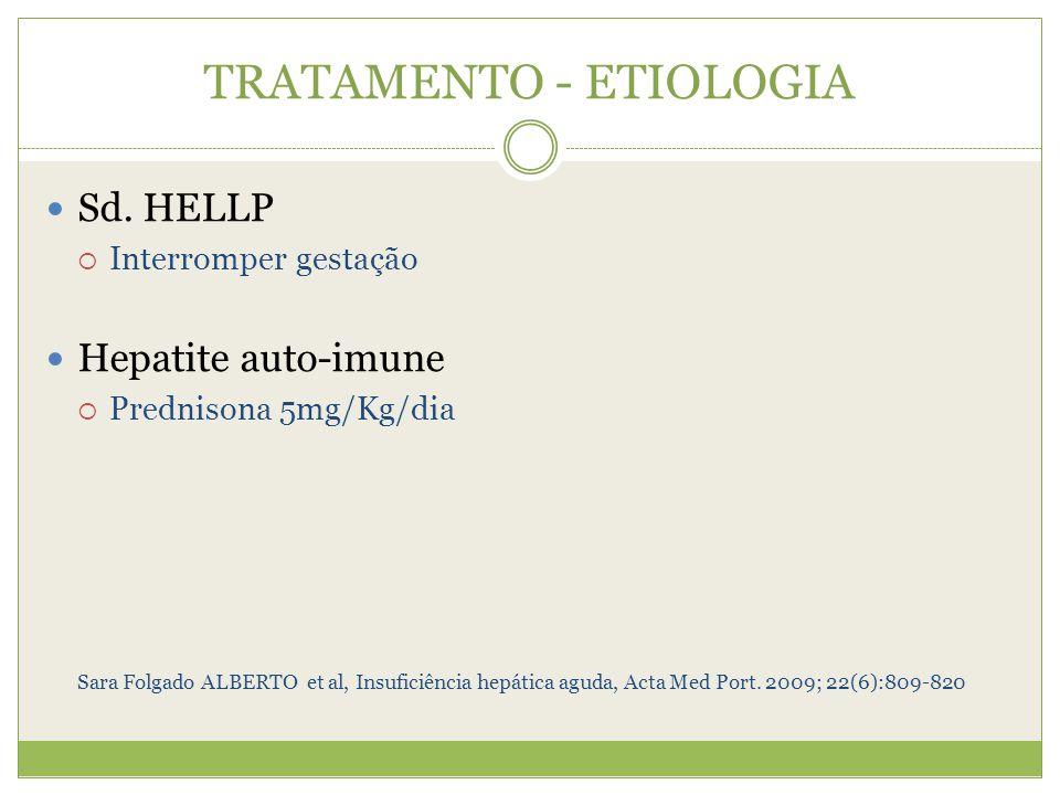 TRATAMENTO - ETIOLOGIA