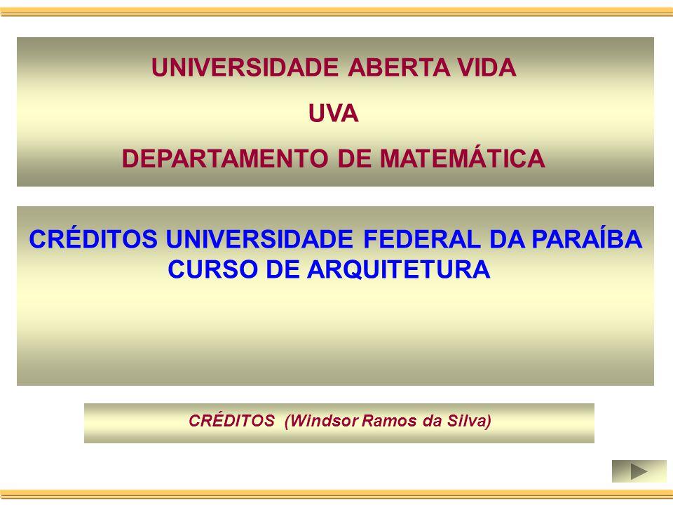 UNIVERSIDADE ABERTA VIDA UVA DEPARTAMENTO DE MATEMÁTICA