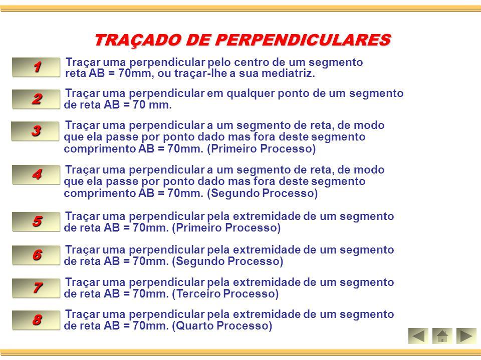 TRAÇADO DE PERPENDICULARES