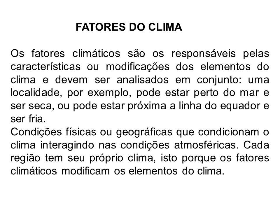 FATORES DO CLIMA