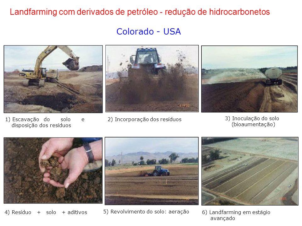 Landfarming com derivados de petróleo - redução de hidrocarbonetos