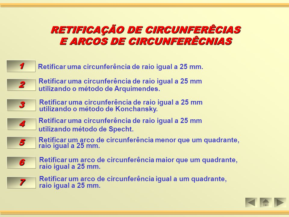 RETIFICAÇÃO DE CIRCUNFERÊCIAS E ARCOS DE CIRCUNFERÊCNIAS
