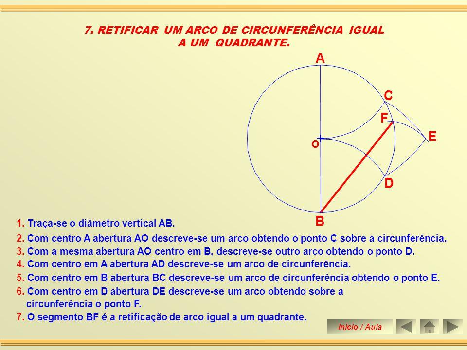 7. RETIFICAR UM ARCO DE CIRCUNFERÊNCIA IGUAL