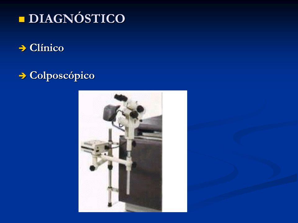 DIAGNÓSTICO Clínico Colposcópico