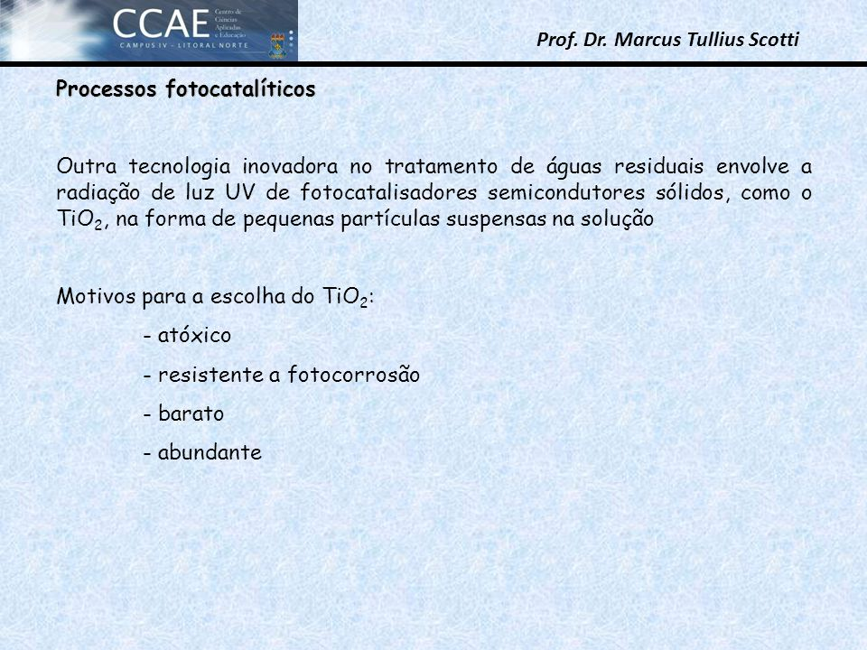 Processos fotocatalíticos