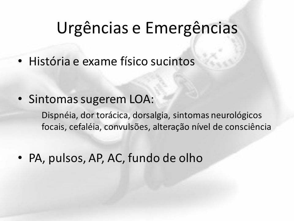 Urgências e Emergências