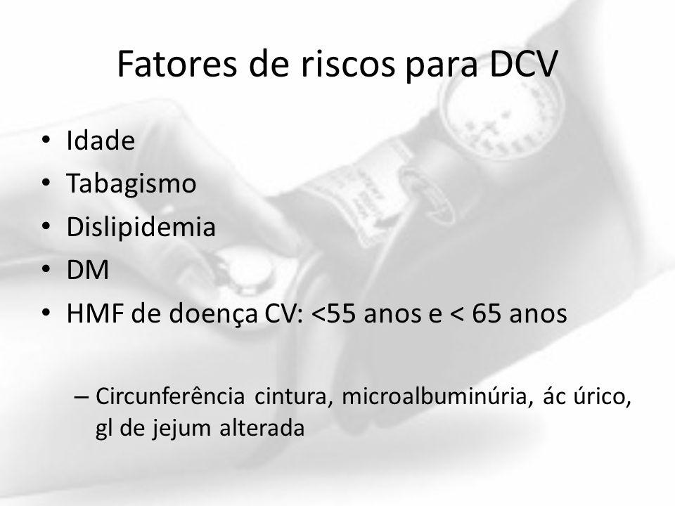 Fatores de riscos para DCV