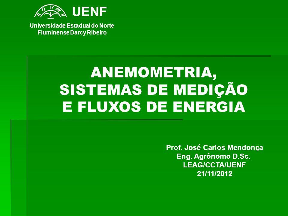 ANEMOMETRIA, SISTEMAS DE MEDIÇÃO E FLUXOS DE ENERGIA