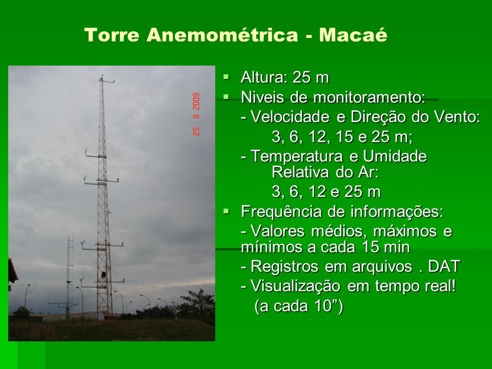 Torre Anemométrica - Macaé