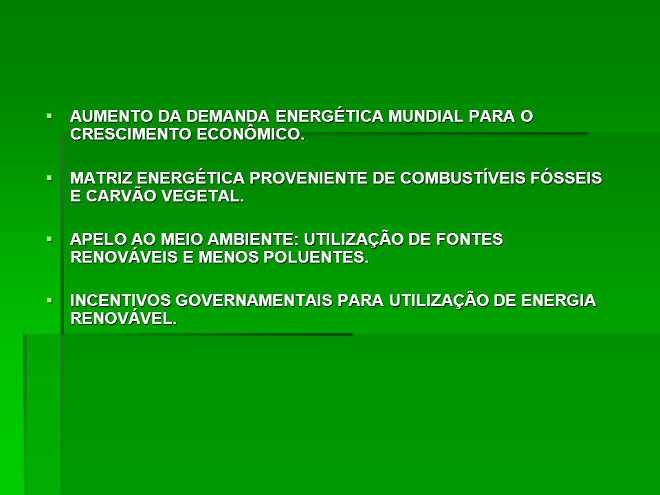 AUMENTO DA DEMANDA ENERGÉTICA MUNDIAL PARA O CRESCIMENTO ECONÔMICO.