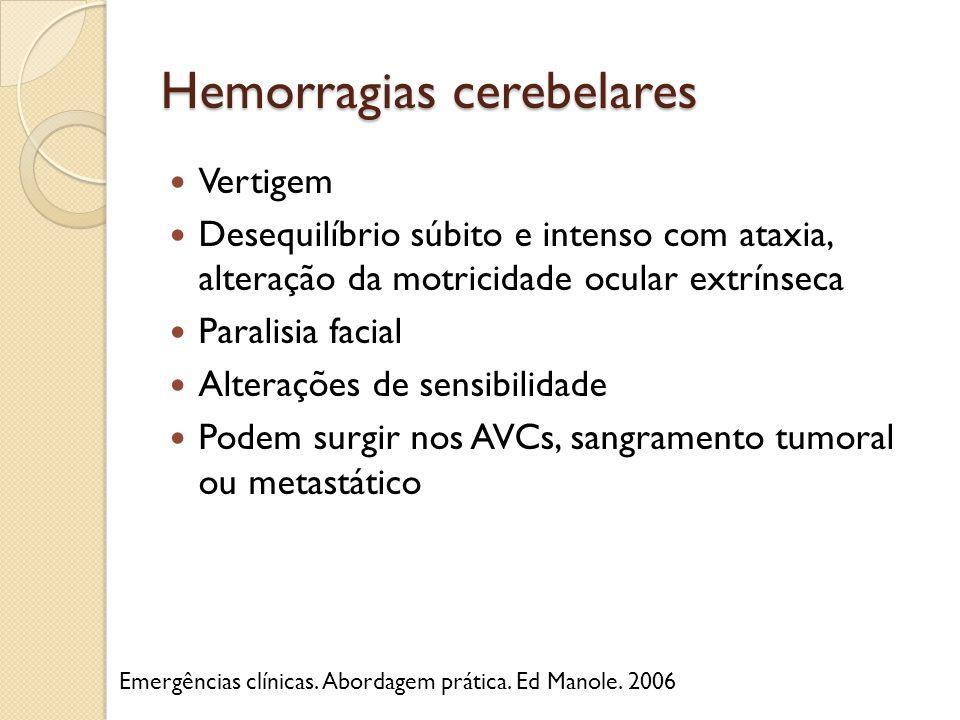 Hemorragias cerebelares