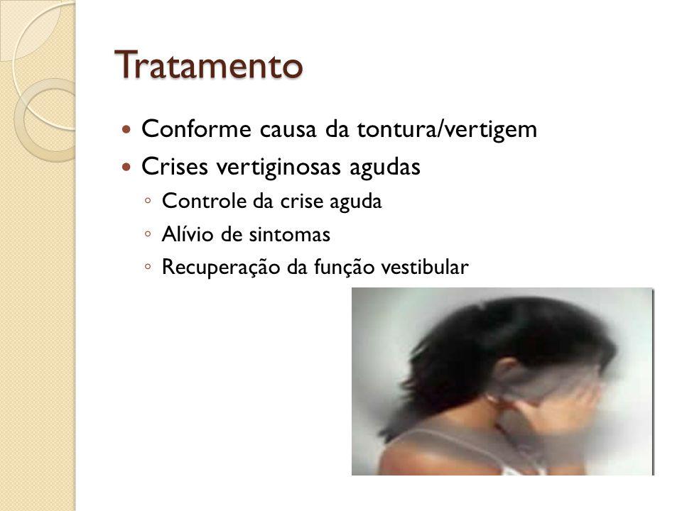 Tratamento Conforme causa da tontura/vertigem