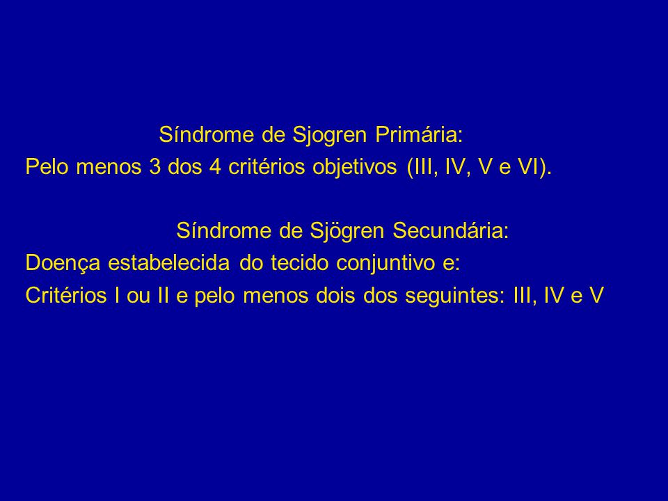 Síndrome de Sjögren Secundária: